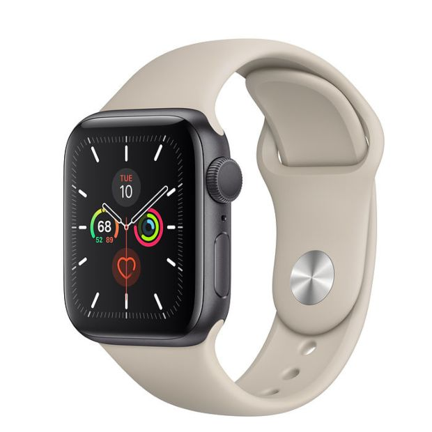Apple Watch Series 5 GPS, 40mm Space Gray Aluminum Case with Stone Sport Band