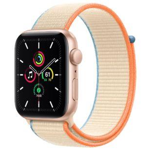Apple Watch SE GPS + Cellular, 44mm Gold Aluminum Case with Cream Sport Loop MYEQ2 / MYA52