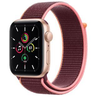 Apple Watch SE GPS + Cellular, 44mm Gold Aluminum Case with Plum Sport Loop MYEQ2 / MYA92