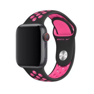 Ремінець Apple Nike Sport Band Black   Pink Blast Twist (MWU72) для Apple Watch 40mm   38mm Series 5   4   3   2   1