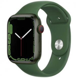 Apple Watch Series 7 GPS + Cellular, 45mm Green Aluminum Case with Green Sport Band