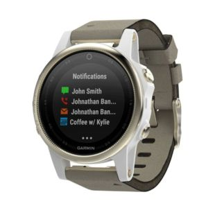 Garmin Fenix 5S Sapphire Champagne with Suede Band 010-01685-13