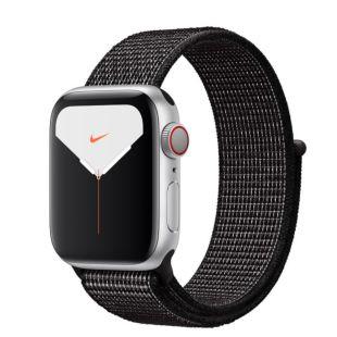 Apple Watch Nike Series 5 GPS + Cellular, 40mm Silver Aluminum Case with Black Nike Sport Loop