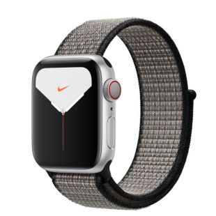 Apple Watch Nike Series 5 GPS + Cellular, 40mm Silver Aluminum Case with Royal Pulse/Lava Glow Sport Loop