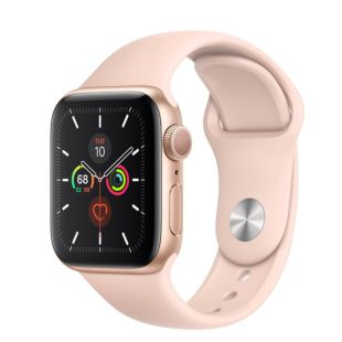 Apple Watch Series 5 GPS, 40mm Gold Aluminum Case with Pink Sand Sport Band MWV72