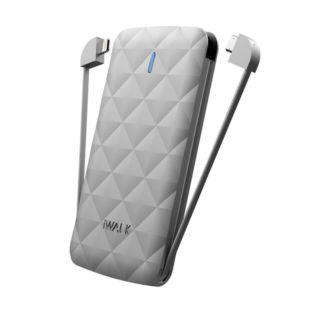 Зовнішній акумулятор iWalk  Duo 3000mAh Silver UBO3000