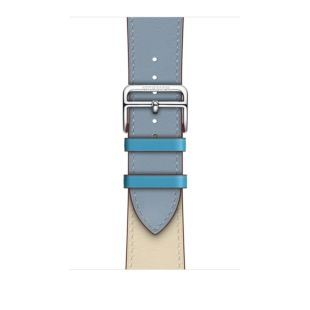 Apple Watch Hermиs 44mm Bleu Lin/Craie/Bleu du Nord Swift Leather Single Tour MV7J2 [Hermes Bleu Lin/Craie/Bleu du Nord]