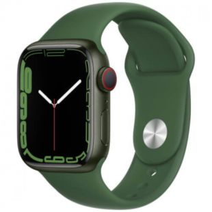 Apple Watch Series 7 GPS, 41mm Green Aluminum Case with Green Sport Band MKN03