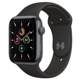 Apple Watch SE GPS + Cellular, 44mm Space Gray Aluminum Case with Black Sport Band MYFA2 / MTPL2