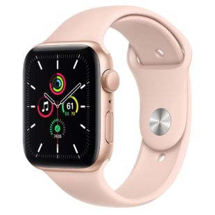 Apple Watch SE GPS, 44mm Gold Aluminum Case with Pink Sand Sport Band MYDR2 / MTPM2