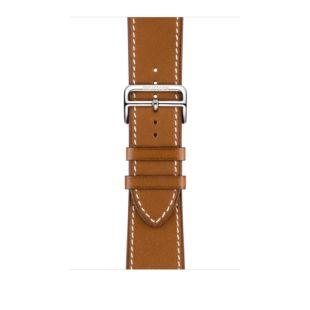 Apple Watch Hermes 44mm Fauve Barenia Leather Single Tour Deployment Buckle MTQF2 [Hermes Fauve]