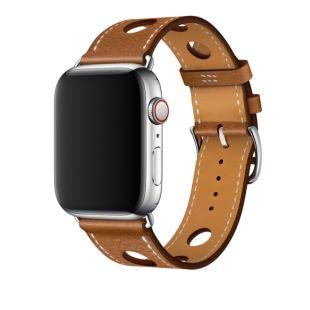 Apple Watch Hermes 44mm Fauve Grained Barenia Leather Single Tour Rallye [Hermes Fauve]