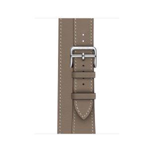 Apple Watch Hermes 40mm Etoupe Swift Leather Double Tour MV7E2 [Hermes Etoupe]