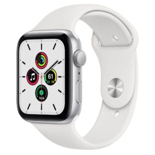 Apple Watch SE GPS, 44mm Silver Aluminum Case with White Sport Band MYDQ2 / MTPK2