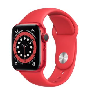 Apple Watch Series 6 GPS, 40mm Red Aluminum Case with Red Sport Band M00A3 / MYAR2