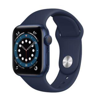 Apple Watch Series 6 GPS, 40mm Blue Aluminum Case with Deep Navy Sport Band MG143 / MYAU2