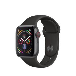 Apple Watch Series 4 GPS + Cellular 40mm Space Gray Aluminum Case with Black Sport Band MTUG2 / MTVD2