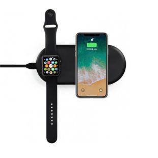 Зарядний пристрій COTEetCI WS-7 Phone & Apple Watch Wireless Charger Black CS5160-BK