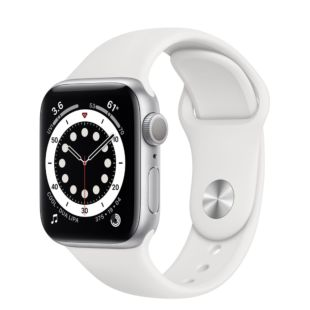 Apple Watch Series 6 GPS, 40mm Silver Aluminum Case with White Sport Band MG283 / MTP52