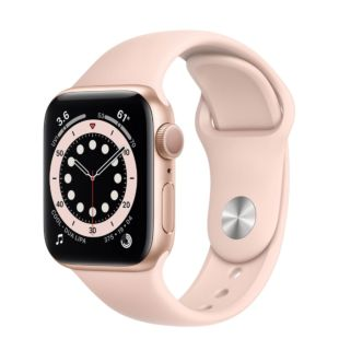 Apple Watch Series 6 GPS, 40mm Gold Aluminum Case with Pink Sand Sport Band MG123 / MTP72