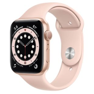 Apple Watch Series 6 GPS, 44mm Gold Aluminum Case with Pink Sand Sport Band M00E3 / MTPM2