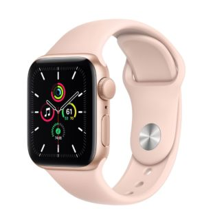 Apple Watch SE GPS, 40mm Gold Aluminum Case with Pink Sand Sport Band MYDN2 / MTP72