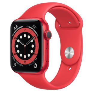 Apple Watch Series 6 GPS, 44mm Red Aluminum Case with Red Sport Band M00M3 / MYAV2