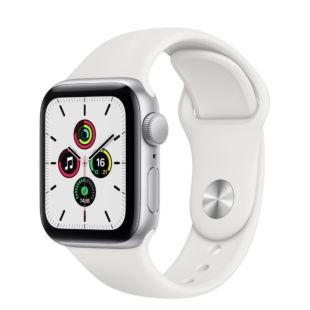 Apple Watch SE GPS, 40mm Silver Aluminum Case with White Sport Band MYDM2 / MTP52