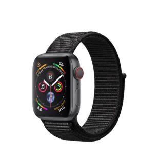 Apple Watch Series 4 GPS + Cellular 40mm Space Gray Aluminum Case with Black Sport Loop MTVF2