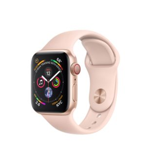 Apple Watch Series 4 GPS + Cellular 40mm Gold Aluminum Case with Pink Sand Sport Band MTVG2 / MTUJ2