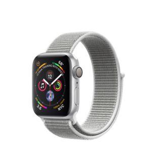Apple Watch Series 4 GPS 40mm Silver Aluminum Case with Seashell Sport Loop MU652